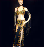 Unique Black with gold Belly Dancing